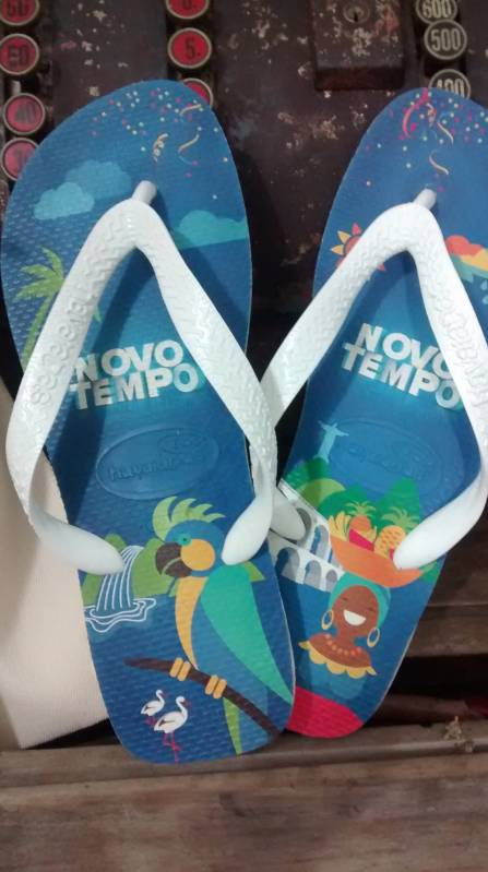 Chinelo para Evento Empresarial Customizado