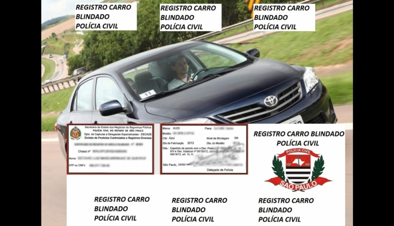 Despachante para Registro de Carros Blindados